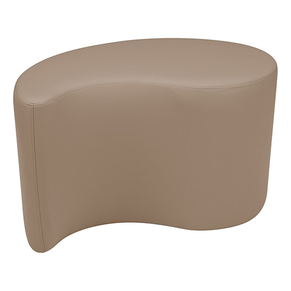 "Shapes Series II Vinyl Soft Seating - Teardrop (18"" High) - Taupe Smooth Grain"