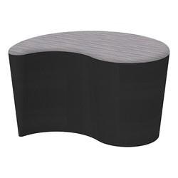 "Shapes Series II Designer Soft Seating - Teardrop (18"" High) - Black/Pepper"