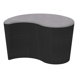 "Shapes Series II Designer Soft Seating - Teardrop (18\"" High) - Black/Pepper"