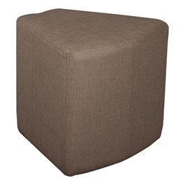 Shapes Series II Vinyl Soft Seating - Wedge (brown crosshatch)