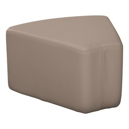 "Shapes Series II Vinyl Soft Seating - Wedge (12"" High) - Taupe smooth grain"