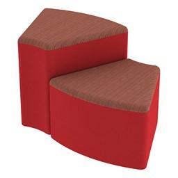 Shapes Series II Designer Soft Seating - Wedge - Brick/Red