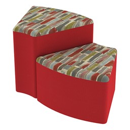 Shapes Series II Designer Soft Seating - Wedge - Confetti/Red