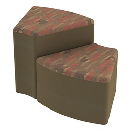 Shapes Series II Designer Soft Seating - Wedge - Dark Latte/Chocolate