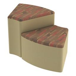 Shapes Series II Designer Soft Seating - Wedge - Dark Latte/Sand