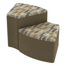 Shapes Series II Designer Soft Seating - Wedge - Desert/Chocolate