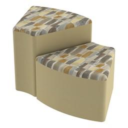 Shapes Series II Designer Soft Seating - Wedge - Desert/Sand