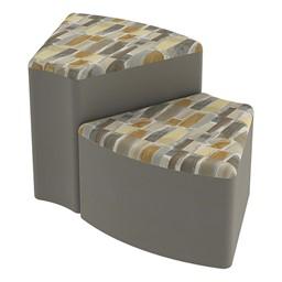 Shapes Series II Designer Soft Seating - Wedge - Desert/Taupe