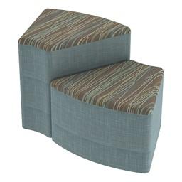 Shapes Series II Designer Soft Seating - Wedge - Pecan/Blue