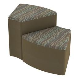 Shapes Series II Designer Soft Seating - Wedge - Pecan/Chocolate