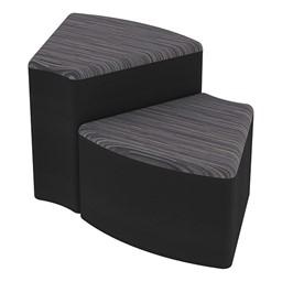 Shapes Series II Designer Soft Seating - Wedge - Pepper/Black