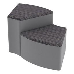 Shapes Series II Designer Soft Seating - Wedge - Pepper/Light Gray