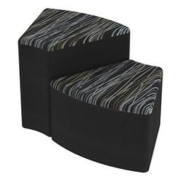 Shapes Series II Designer Soft Seating - Wedge - Peppercorn/Black