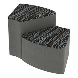 Shapes Series II Designer Soft Seating - Wedge - Peppercorn/Gray