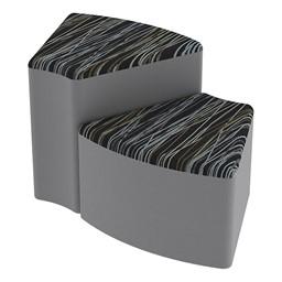 Shapes Series II Designer Soft Seating - Wedge - Peppercorn/Light Gray