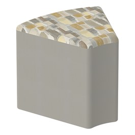 "Shapes Series II Designer Soft Seating - Wedge (18"" High) - Taupe/Desert"