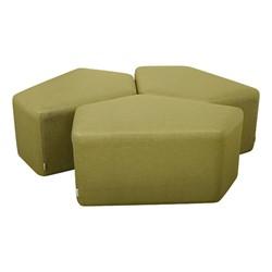 Shapes Series II Vinyl Soft Seating - CommunEDI Three-Pack (green crosshatch)
