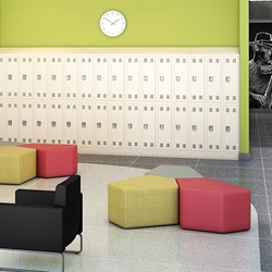 "Shapes Series II Vinyl Soft Seating - CommunEDI (18"" High) - Environment"