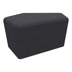 "Shapes Series II Vinyl Soft Seating - CommunEDI (18"" High) - Navy Crosshatch"