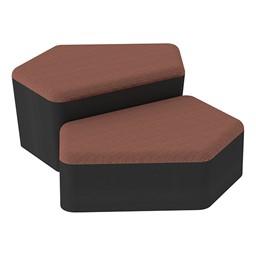 Shapes Series II Designer Soft Seating - CommunEDI - Brick/Black