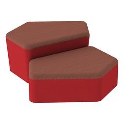 Shapes Series II Designer Soft Seating - CommunEDI - Brick/Red