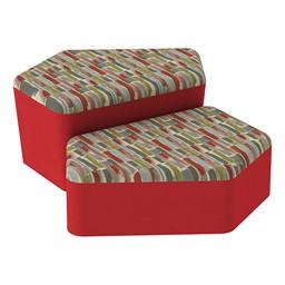 Shapes Series II Designer Soft Seating - CommunEDI - Confetti/Red