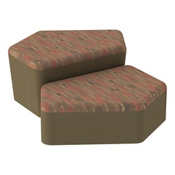 Shapes Series II Designer Soft Seating - CommunEDI - Dark Latte/Chocolate