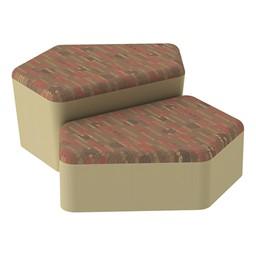 Shapes Series II Designer Soft Seating - CommunEDI - Dark Latte/Sand