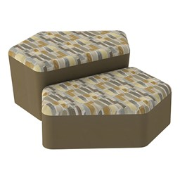 Shapes Series II Designer Soft Seating - CommunEDI - Desert/Chocolate