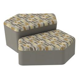 Shapes Series II Designer Soft Seating - CommunEDI - Desert/Taupe