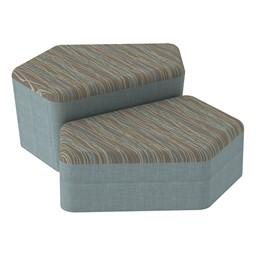 Shapes Series II Designer Soft Seating - CommunEDI - Pecan/Blue