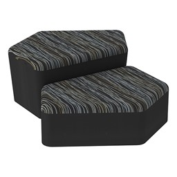 Shapes Series II Designer Soft Seating - CommunEDI - Peppercorn/Black