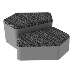 Shapes Series II Designer Soft Seating - CommunEDI - Peppercorn/Light Gray