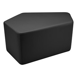 "Shapes Series II Vinyl Soft Seating - CommunEDI (18"" High) - Black Smooth Grain"