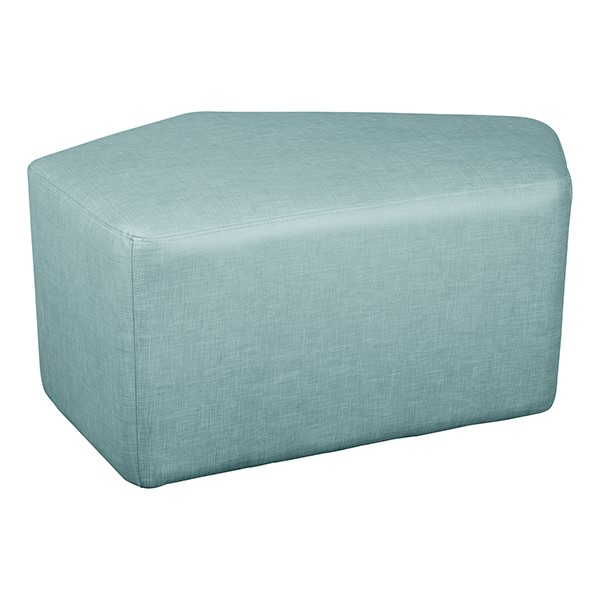 "Shapes Series II Vinyl Soft Seating - CommunEDI (18"" High) - Blue Crosshatch"