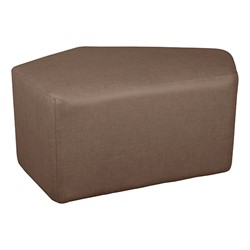 "Shapes Series II Vinyl Soft Seating - CommunEDI (18"" High) - Brown Crosshatch"
