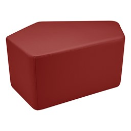 "Shapes Series II Vinyl Soft Seating - CommunEDI (18"" High) - Burgundy Smooth Grain"