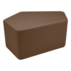 "Shapes Series II Vinyl Soft Seating - CommunEDI (18"" High) - Chocolate Smooth Grain"