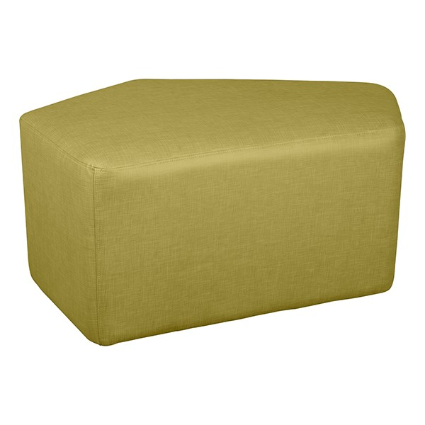 "Shapes Series II Vinyl Soft Seating - CommunEDI (18"" High) - Green Crosshatch"