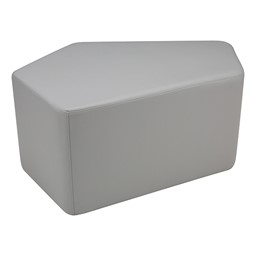 "Shapes Series II Vinyl Soft Seating - CommunEDI (18"" High) - Light Gray Smooth Grain"
