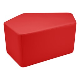 "Shapes Series II Vinyl Soft Seating - CommunEDI (18"" High) - Red Smooth Grain"