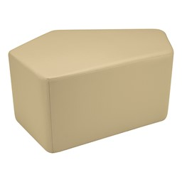 "Shapes Series II Vinyl Soft Seating - CommunEDI (18"" High) - Sand Smooth Grain"
