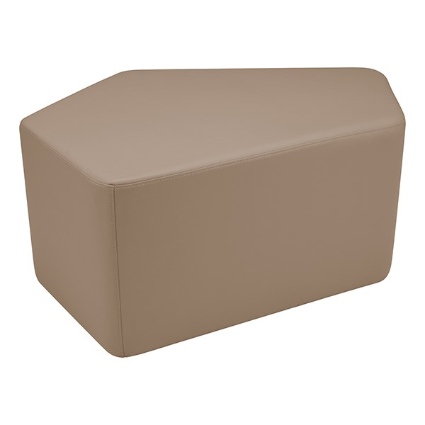 "Shapes Series II Vinyl Soft Seating - CommunEDI (18"" High) - Taupe Smooth Grain"