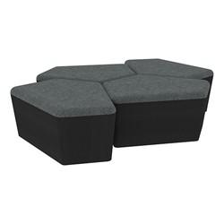 "Shapes Series II Designer Soft Seating - 18"" H CommunEDI Four-Pack - Atomic/Black"