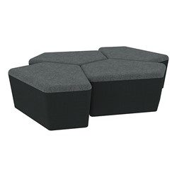 "Shapes Series II Designer Soft Seating - 18"" H CommunEDI Four-Pack - Atomic/Navy"