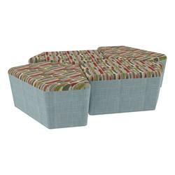 "Shapes Series II Designer Soft Seating - 18"" H CommunEDI Four-Pack - Confetti/Blue"