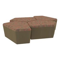 "Shapes Series II Designer Soft Seating - 18"" H CommunEDI Four-Pack - Dark Latte/Chocolate"