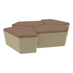 "Shapes Series II Designer Soft Seating - 18"" H CommunEDI Four-Pack - Dark Latte/Sand"
