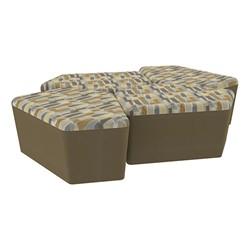 "Shapes Series II Designer Soft Seating - 18"" H CommunEDI Four-Pack - Desert/Chocolate"