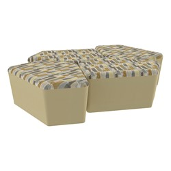 "Shapes Series II Designer Soft Seating - 18"" H CommunEDI Four-Pack - Desert/Sand"